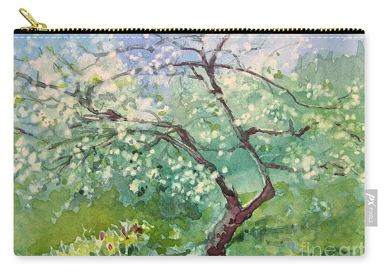 Plum Tree Carry-all Pouch featuring the painting Spring Plum by Elizabeth Carr