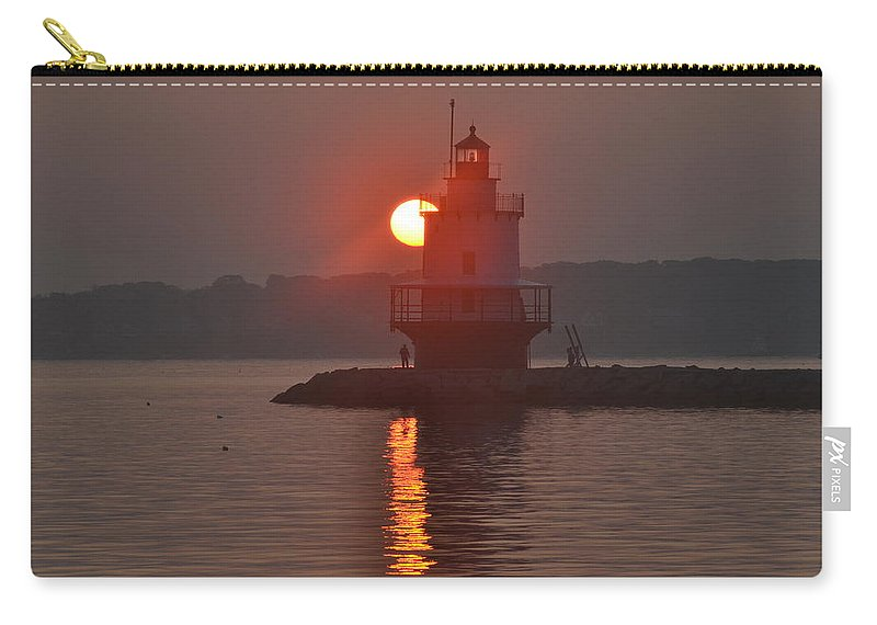Spring Point Ledge Carry-all Pouch featuring the photograph Spring Point Ledge Sunrise by Colleen Phaedra