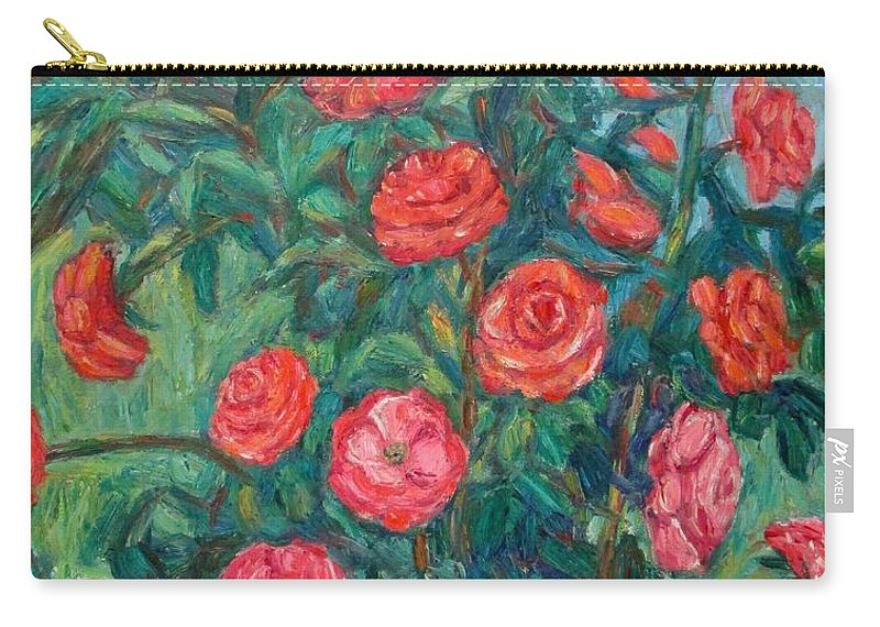 Rose Carry-all Pouch featuring the painting Spring Roses by Kendall Kessler