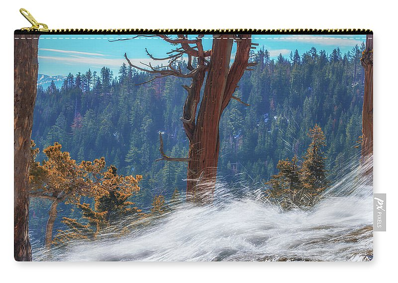 Landscape Carry-all Pouch featuring the photograph Spring Runoff In Sierras by Marc Crumpler
