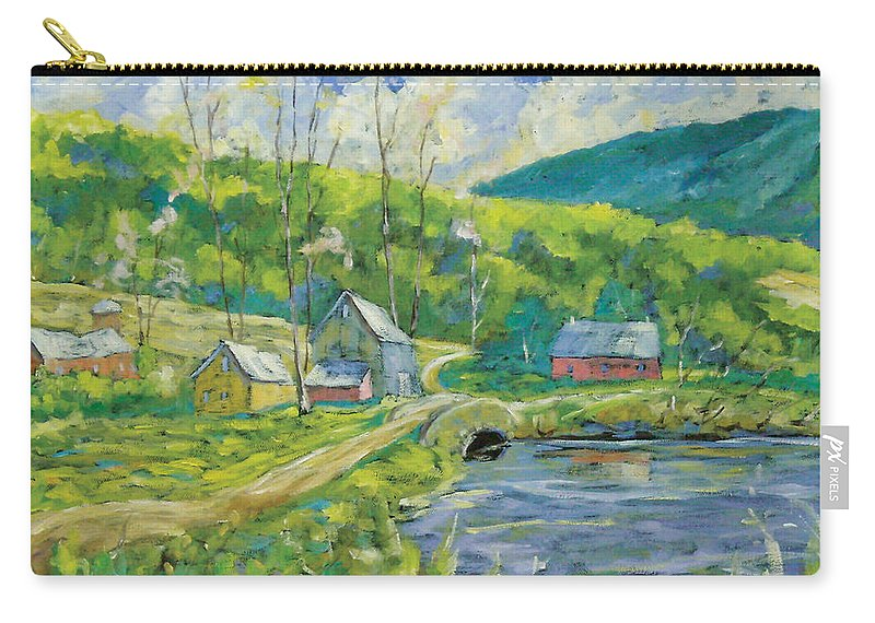 Landscape Carry-all Pouch featuring the painting Spring Scene by Richard T Pranke