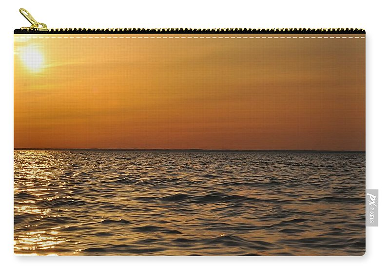 Sunset Carry-all Pouch featuring the photograph Spring Sunset by Bill Cannon