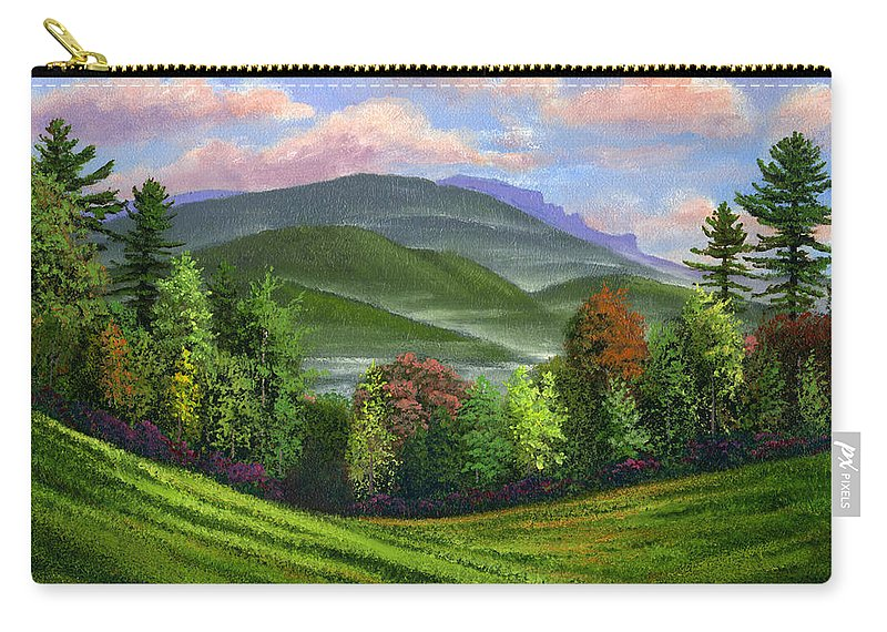 Landscape Carry-all Pouch featuring the painting Spring Time by Frank Wilson