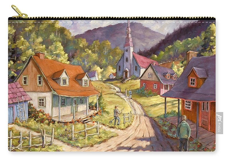 Art Carry-all Pouch featuring the painting Spring Time Sun by Richard T Pranke
