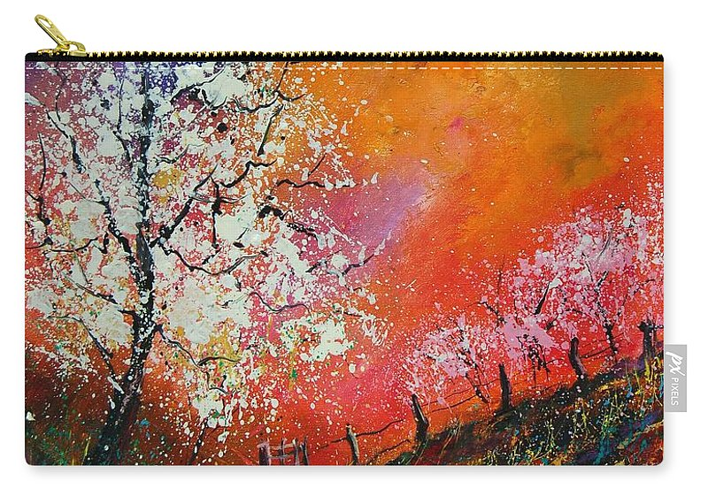 Spring Carry-all Pouch featuring the painting Spring Today by Pol Ledent