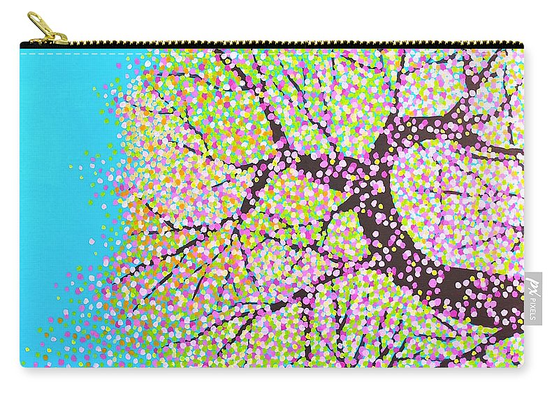 Spring Carry-all Pouch featuring the painting Spring Tree by Wonju Hulse
