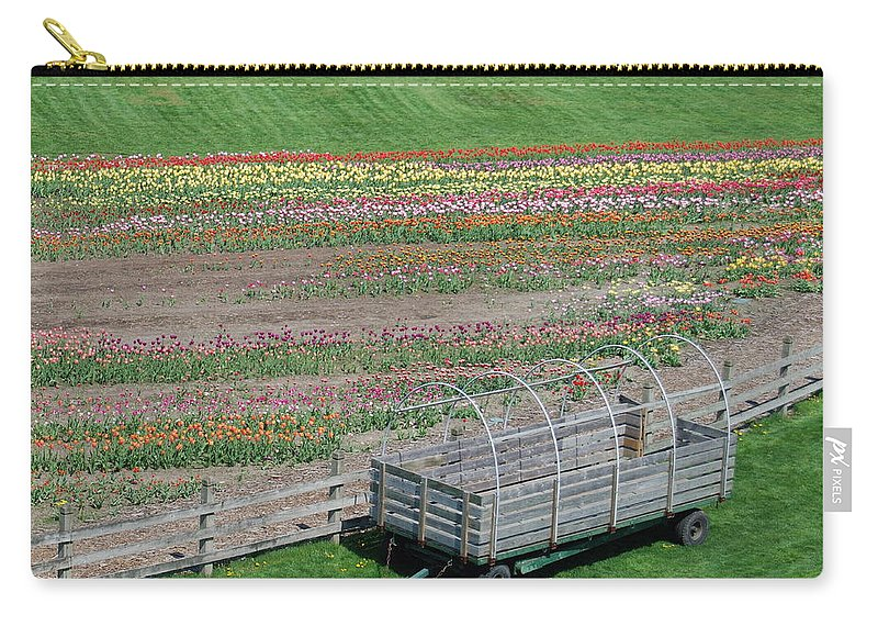 Flower Carry-all Pouch featuring the photograph Spring Tulips by Michael Peychich