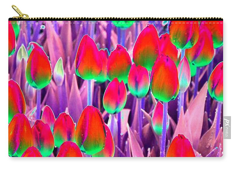 Tulip Carry-all Pouch featuring the photograph Spring Tulips - Photopower 3111 by Pamela Critchlow