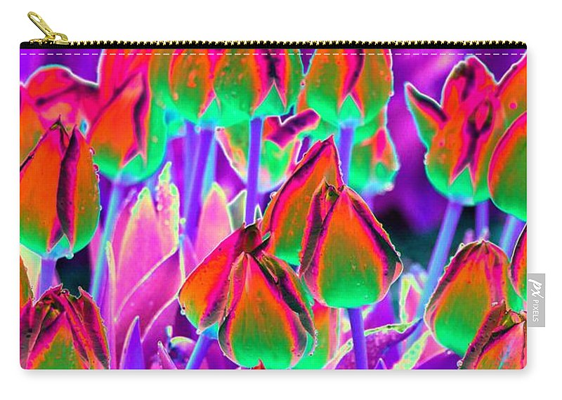 Tulip Carry-all Pouch featuring the photograph Spring Tulips - Photopower 3116 by Pamela Critchlow