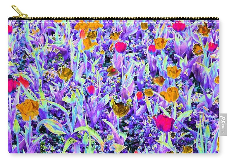 Tulip Carry-all Pouch featuring the photograph Spring Tulips - Photopower 3125 by Pamela Critchlow