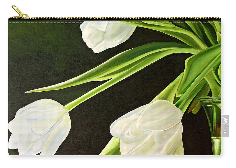 Tulips Carry-all Pouch featuring the painting Spring Tulips by Toni Grote