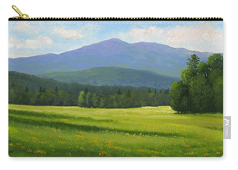 Landscape Carry-all Pouch featuring the painting Spring Vista by Frank Wilson