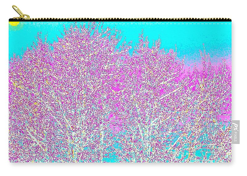 Abstract Carry-all Pouch featuring the digital art Spring by Will Borden