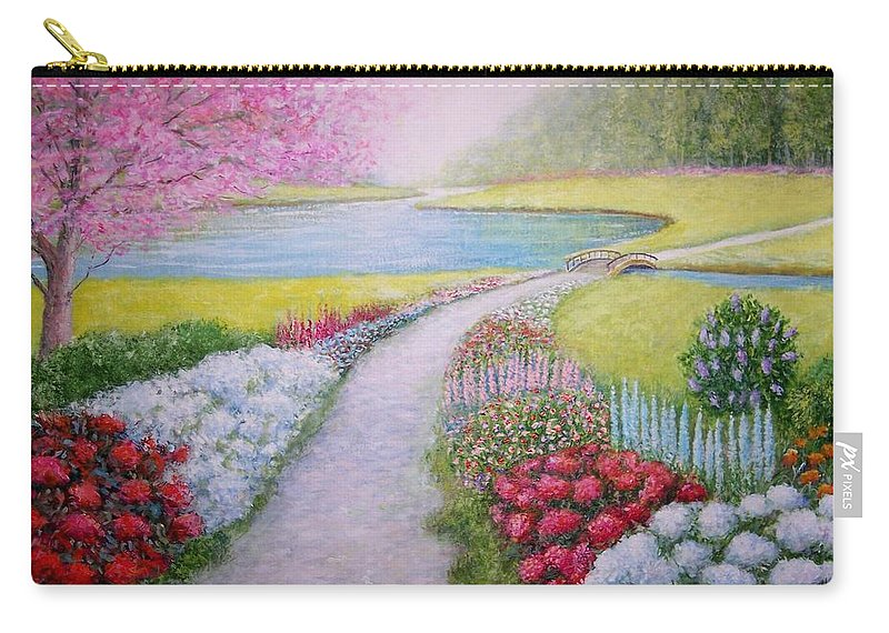 Landscape Carry-all Pouch featuring the painting Spring by William H RaVell III