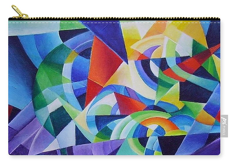 Spring Antonio Vivaldi Acrylic Abstract Music Four Seasons Carry-all Pouch featuring the painting Spring by Wolfgang Schweizer