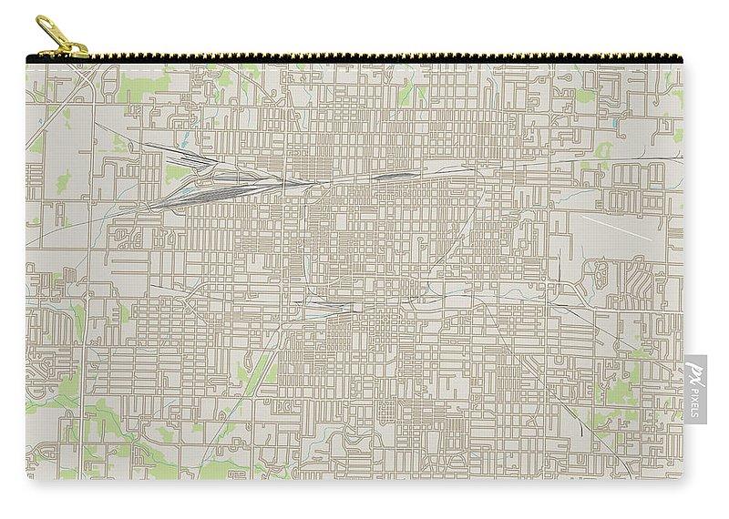 Springfield Carry-all Pouch featuring the digital art Springfield Missouri Us City Street Map by Frank Ramspott