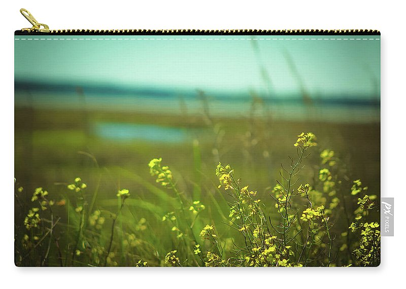 Beach Carry-all Pouch featuring the photograph Springtime At The Beach by Amy Bishop