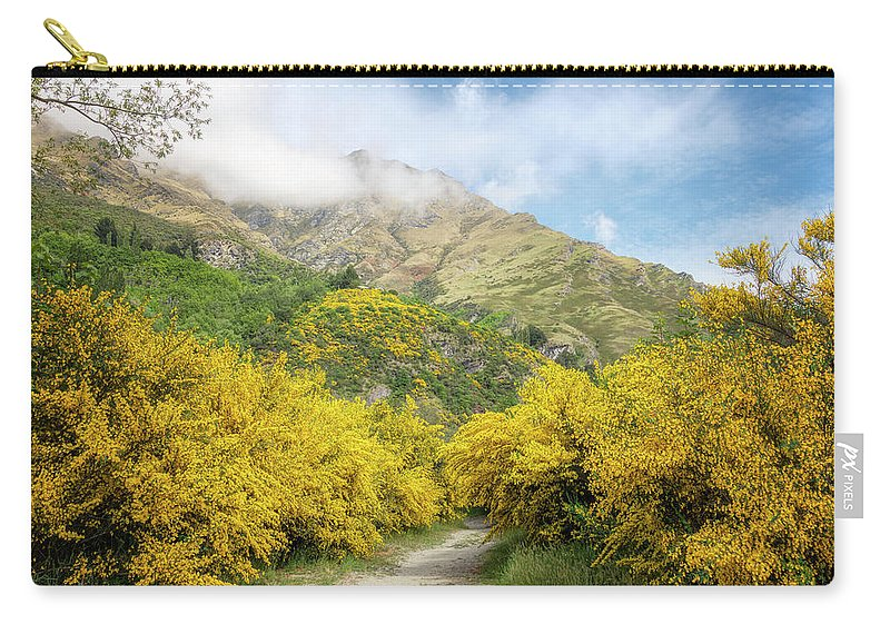 Joan Carroll Carry-all Pouch featuring the photograph Springtime In New Zealand by Joan Carroll