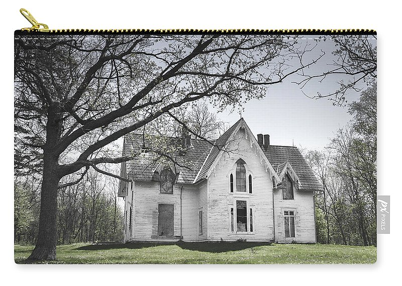 Abandonment Carry-all Pouch featuring the photograph Springtime Ledge Homestead-bicolor by Dawn Braun