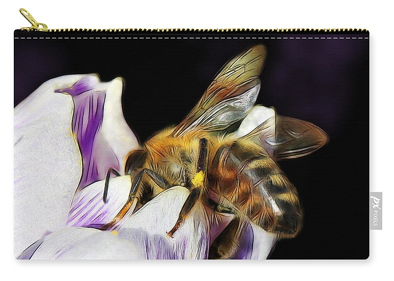 Spring Carry-all Pouch featuring the photograph Springtime Visitor by Jutta Maria Pusl
