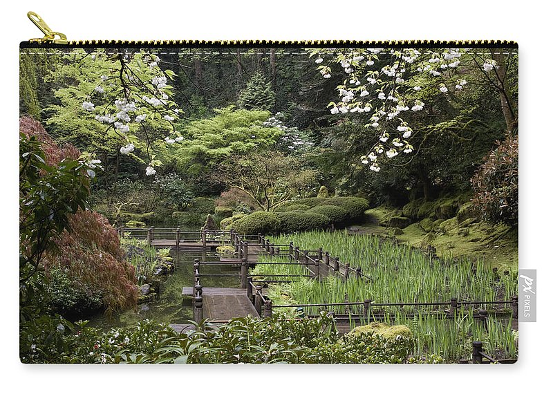 Springtime Walkway Carry-all Pouch featuring the photograph Springtime Walkway by Wes and Dotty Weber