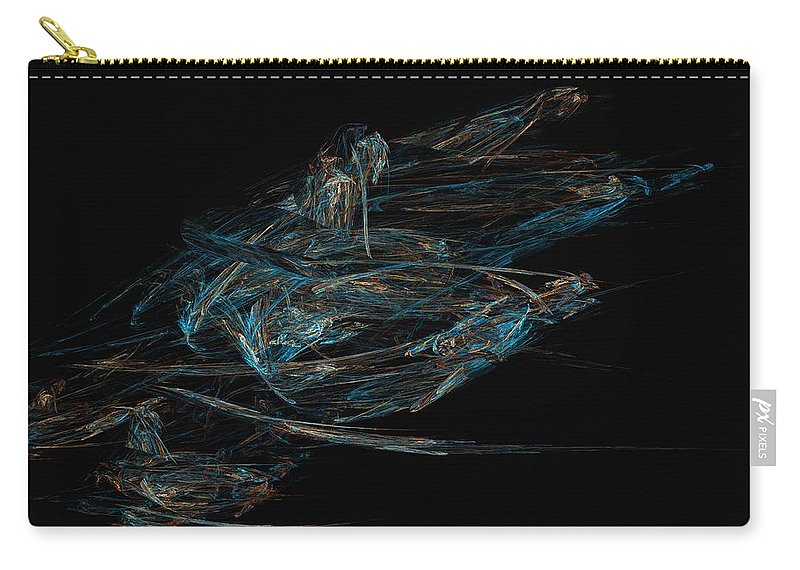 Abstract Digital Painting Carry-all Pouch featuring the digital art Sprint by David Lane