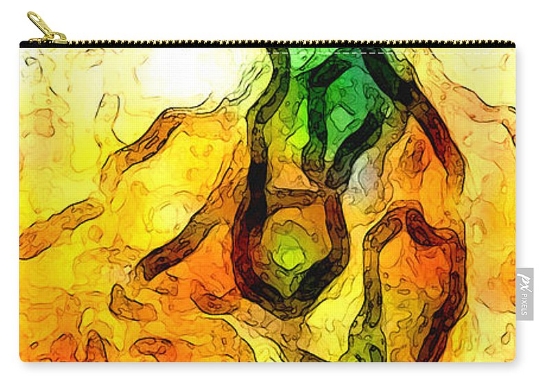 Abstract Carry-all Pouch featuring the digital art Sprout About by Linda Mears