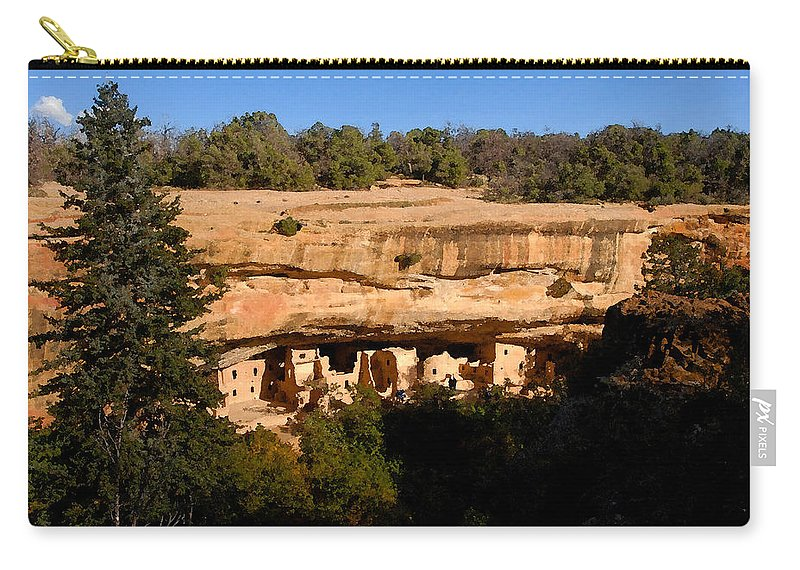 Art Carry-all Pouch featuring the painting Spruce Tree House by David Lee Thompson