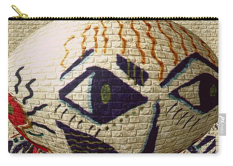 Playful Carry-all Pouch featuring the painting Spy Kids by Angela L Walker