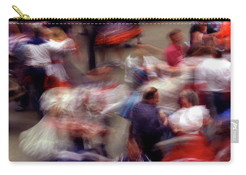 Color Carry-all Pouch featuring the photograph Square Dance Love by Frederic A Reinecke
