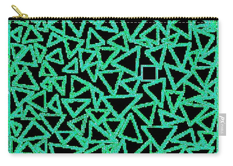 Abstract Carry-all Pouch featuring the digital art Square One by Will Borden