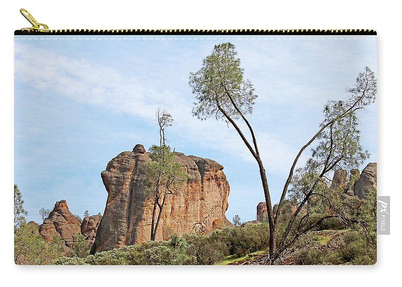 Pinnacles National Park Carry-all Pouch featuring the photograph Square Rock Formation by Art Block Collections