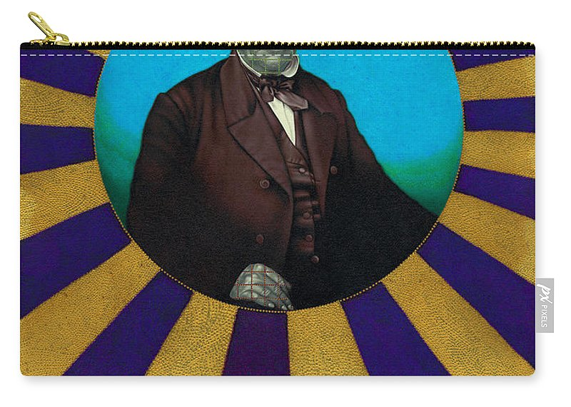 Photorealism Carry-all Pouch featuring the drawing Squared Senator by Chuck Bowden