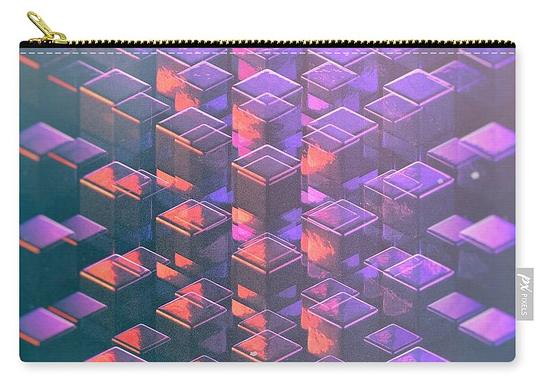 Square Cube Design Carry-all Pouch featuring the digital art Squared2 by Francois Cusson