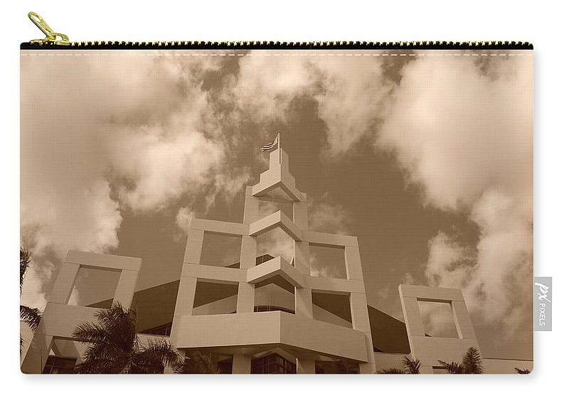 Architecture Carry-all Pouch featuring the photograph Squares In The Sky by Rob Hans