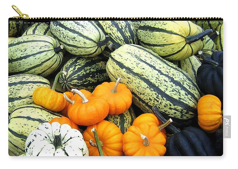 Squash Carry-all Pouch featuring the photograph Squash Harvest by Will Borden