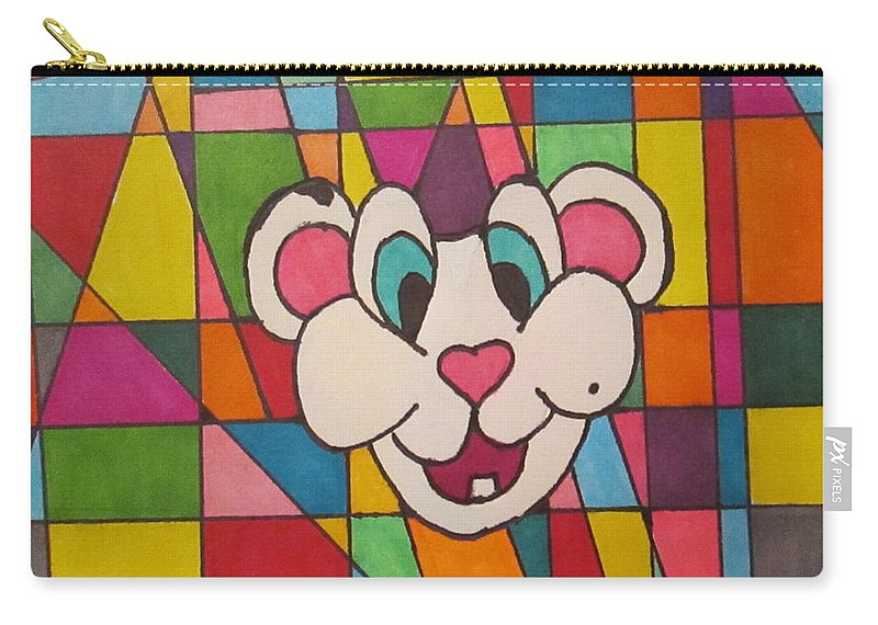 Mouse N Colors Carry-all Pouch featuring the drawing Squeakers N His Design by Sarahjo Hawes