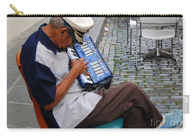 People Carry-all Pouch featuring the photograph Squeeze Box by Debbi Granruth
