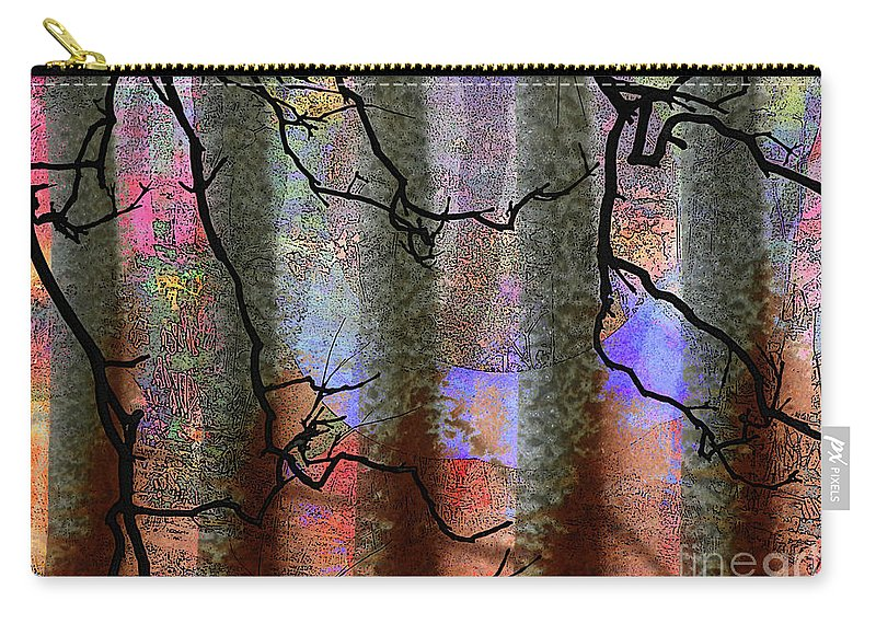 Abstract Carry-all Pouch featuring the photograph Squiggles And Lines by Robert Ball