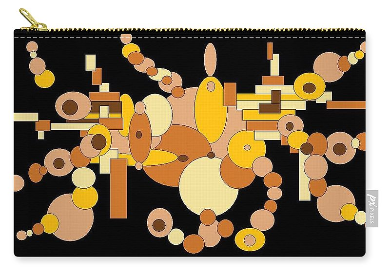 Digital Artwork Carry-all Pouch featuring the digital art Squiggly by Jordana Sands