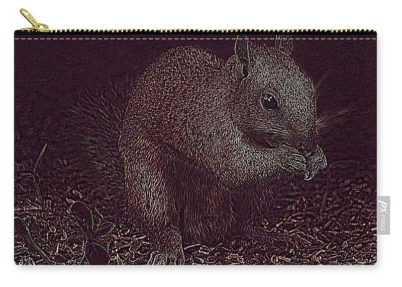 Jenny Gandert Carry-all Pouch featuring the photograph Squirrely Art by Jenny Gandert