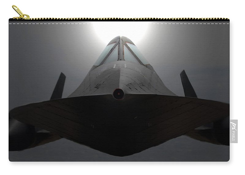 S R 71 Blackbird Carry-all Pouch featuring the photograph Sr 71 Night Mission by David Lee Thompson