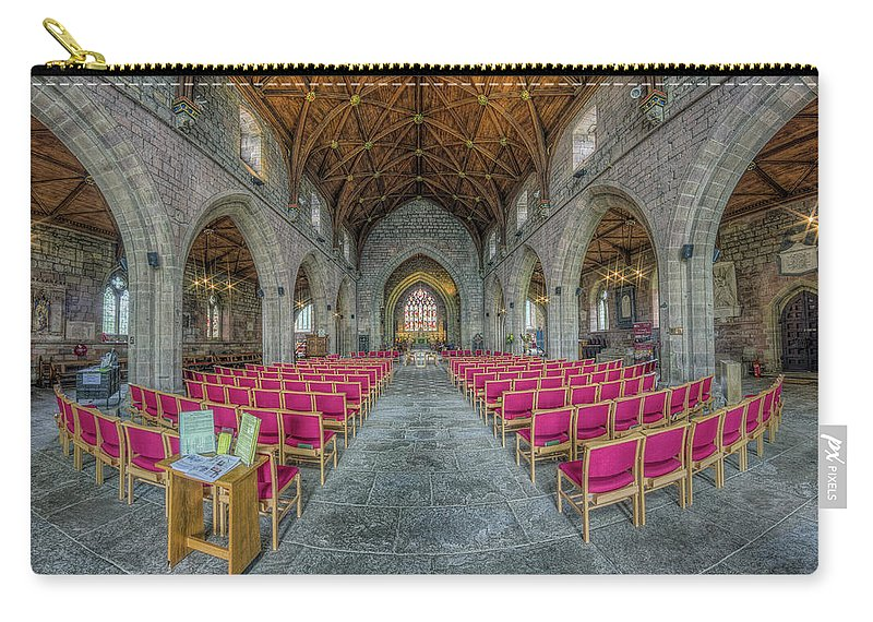 Cathedral Carry-all Pouch featuring the photograph St Asaph Cathedral by Ian Mitchell