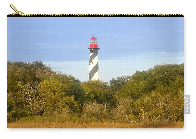 St. Augustine Florida Carry-all Pouch featuring the photograph St. Augustine Light House by David Lee Thompson