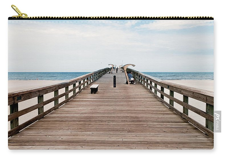 Pier Carry-all Pouch featuring the photograph St. Augustine Pier by Rachel Morrison