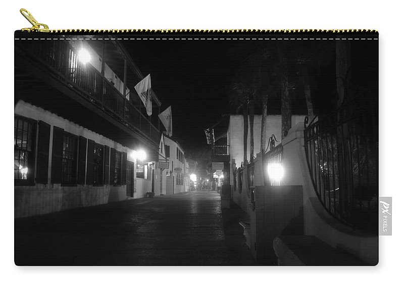 St. Augustine Florida Carry-all Pouch featuring the photograph St. George Street Ghosts by David Lee Thompson