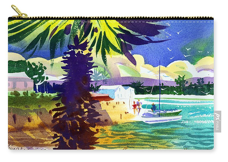 Bermuda Carry-all Pouch featuring the painting St. George's Harbour by Lee Klingenberg