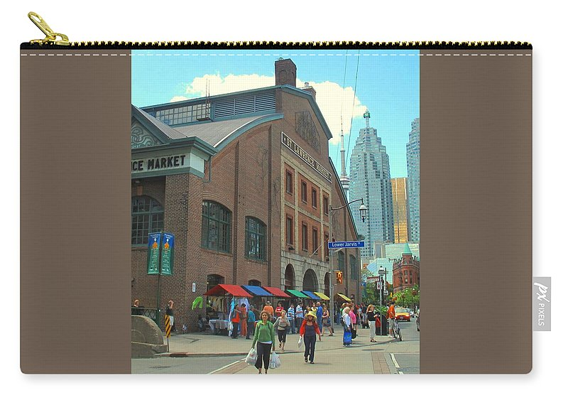 Market Carry-all Pouch featuring the photograph St Lawrence Market by Ian MacDonald