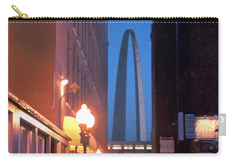 St. Louis Carry-all Pouch featuring the photograph St. Louis Arch by Steve Karol