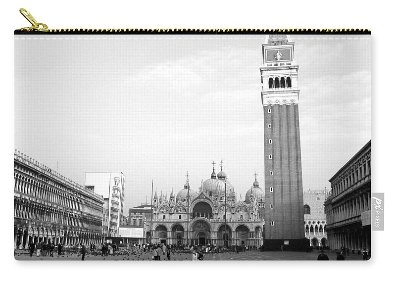 Venice Carry-all Pouch featuring the photograph St. Mark's Square by Donna Corless